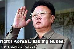 North Korea Disabling Nukes