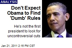 Don't Expect Obama to Find 'Dumb' Rules