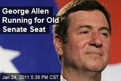 George Allen Running for Old Senate Seat