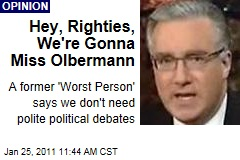 Hey, Righties, We're Gonna Miss Olbermann