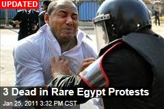 3 Dead in Rare Egypt Protests