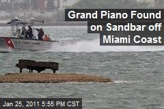 Grand Piano Found on Sandbar off Miami Coast