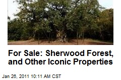 For Sale: Sherwood Forest, and Other Iconic Properties