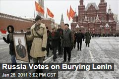 Russia Votes on Burying Lenin