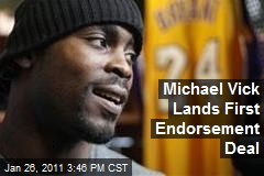 Michael Vick Lands First Endorsement Deal