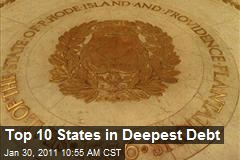 Top 10 States in Deepest Debt