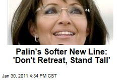 Palin's Softer New Line: 'Don't Retreat, Stand Tall'