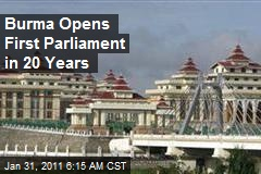 Myanmar Opens First Parliament in 20 Years
