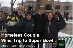 Homeless Couple Wins Trip to Super Bowl