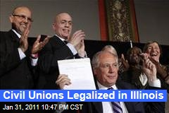 Civil Unions Legalized in Illinois