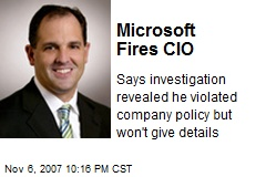 Microsoft Fires CIO