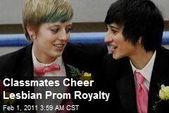 Classmates Cheer Lesbian Prom Royalty