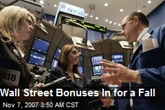 Wall Street Bonuses In for a Fall
