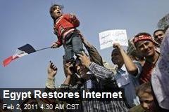 Egypt Restores Internet