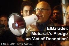 ElBaradei: Mubarak's Pledge an 'Act of Deception'