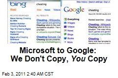 Bing Not Copying Google, Microsoft Executive Says