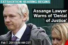 Assange Lawyer Warns of 'Denial of Justice'