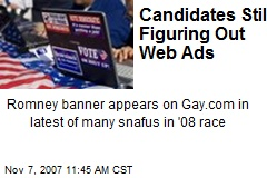 Candidates Still Figuring Out Web Ads