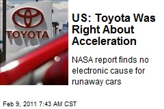 US: Toyota Was Right About Acceleration