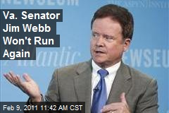 Va. Senator Jim Webb Won't Run Again