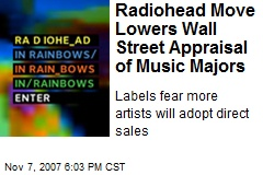 Radiohead Move Lowers Wall Street Appraisal of Music Majors