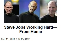Steve Jobs Working Hard—From Home