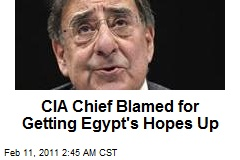 CIA Chief Blamed for Getting Egypt's Hopes Up
