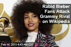 Rabid Bieber Fans Attack Grammy Rival on Wikipedia
