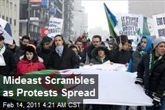 Mideast Scrambles as Protests Spread