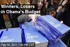 Winners, Losers in Obama's Budget