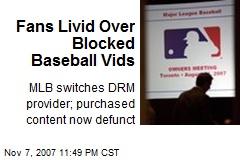 Fans Livid Over Blocked Baseball Vids
