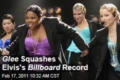 Glee Beats Elvis Presley's Record on Billboard's Hot 100 Chart