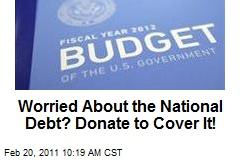 Worried About the National Debt? Donate to Cover It!