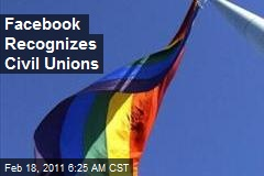 Facebook Recognizes Civil Unions