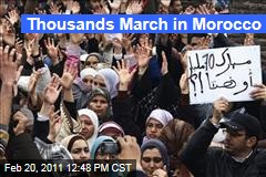 North Africa Unrest: Protests Spread to Morocco