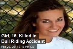 Girl, 16, Killed in Bull Riding Accident