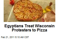 Eqyptians Treat Wis. Protesters to Pizza