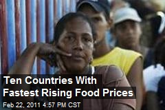 Ten Countries With The Fastest Rising Food Prices