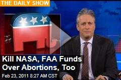 Daily Show Video: If GOP Wants to Cut Planned Parenthood Funding, Why Not Defund NASA, FAA Too?