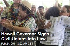 Hawaii Governor Neil Abercrombie Signs Civil Unions into Law