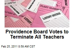Providence, Rhode Island, School Board Votes to Terminate All Public School Teachers