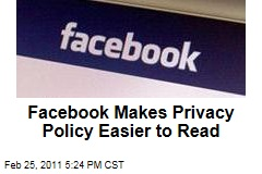 Facebook Privacy Policy: Rules Are the Same, But They're Easier to Read Now