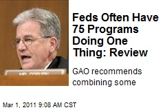 Feds Often Have 75 Programs Doing One Thing: Review