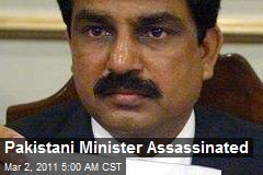 Pakistan's Minorities Minister Assassinated