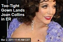 Joan Collins' Too-Tight Gown Gets Her Rushed to ER From Vanity Fair Oscars Bash