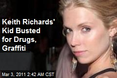 Keith Richards' Kid Busted for Drugs, Graffiti