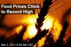 Food Prices Climb to Record High