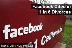 Facebook Cited in 1 in 5 Divorces
