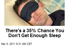 There's a 35% Chance You Don't Get Enough Sleep