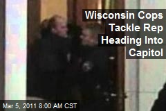Wis. Cops Tackle Rep Heading Into Capitol